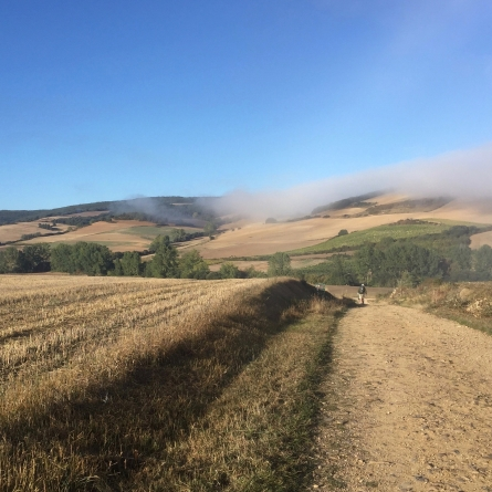 Mid-morning, mid-Camino. Camino de Santiago, Sep.-Oct. 2015